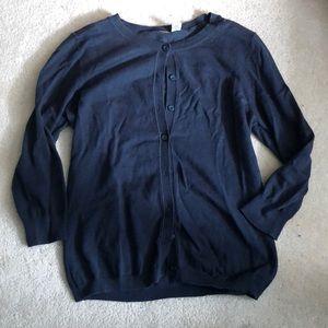 Nordstrom Dark Blue button up sweater